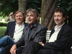 David Gilmour, Richard Wright y Nick Mason